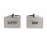 Dalaco 90-1568 Super Man Rhodium Plated Cufflinks